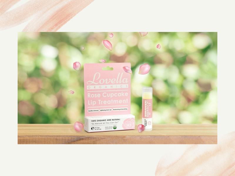 ส่วนประกอบสำคัญของลิปบาล์มออร์แกนิค Lovella Rose Cupcake Lip Treatment - Key ingredients