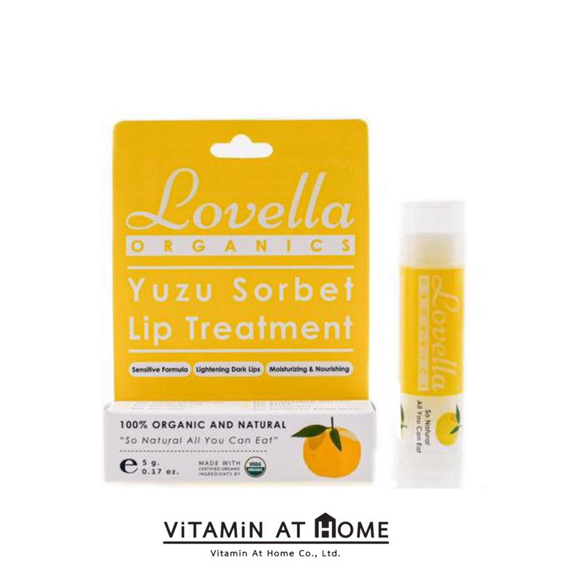 Lovella Yuzu Sorbet ลิปบาล์มออร์แกนิก กลิ่นยูสุซอร์เบท