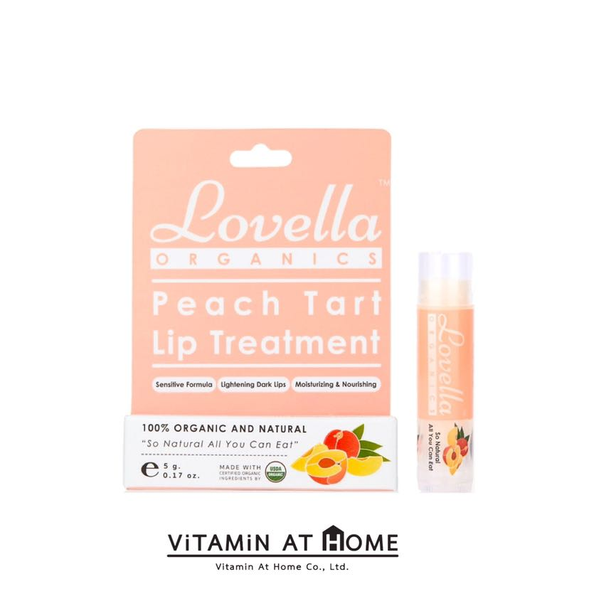 Lovella Peach Tart Lip Treatment ลิปบาล์มออร์แกนิก กลิ่นพีชทาร์ต